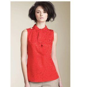 Marc by Marc Jacobs Red Wild Cherry jacquard top